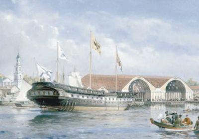 Андрей Тронь «Спуск на воду фрегата «Паллада». 1 сентября 1832 года»