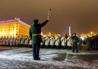 В Волгограде состоялась ночная репетиция парада