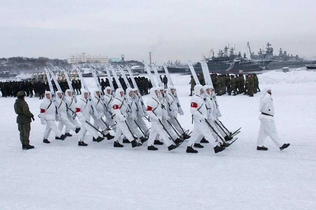 парад к 23 февраля,  Североморск